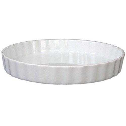 Holst Porzellan TO 174 Quicheform/Tortelett & Tarteform 28 cm rund, weiß, 28 x 28 x 4 cm