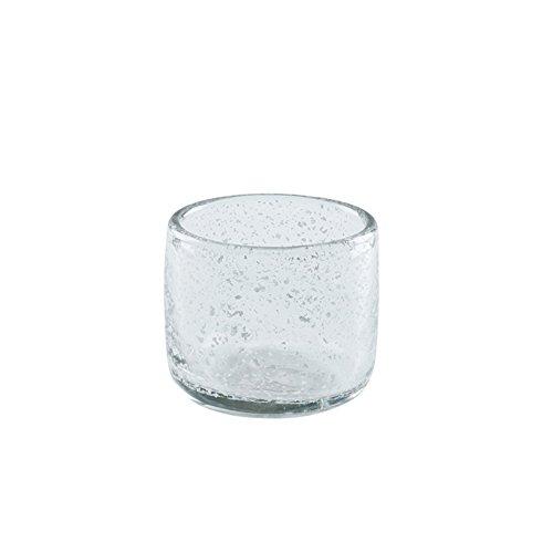 YIXIN Candeleros Material de vidrio de vela ligera Copas de cera de té hechas a mano Transparente 9 * 8.5CM