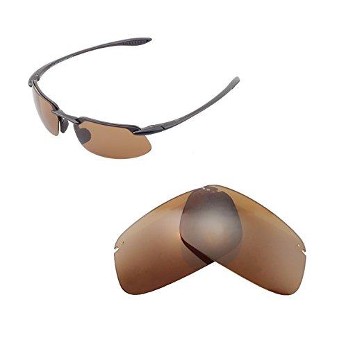Walleva Ersatzgläser für Maui Jim Kahana Sonnenbrille - Mehrfache Optionen (Braun - polarisiert)
