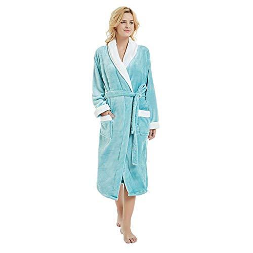 POachers Peignoir Femme Velours Robe de Chambre Polaire Chaud Long Flanelle Peignoir de Bain Femmes Eponge Hiver Longue