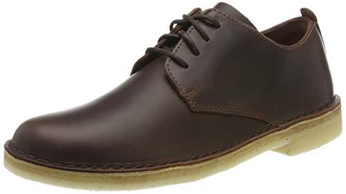 Clarks Damen Desert London. Derbys, Braun Chestnut Leather, 39.5 EU -
