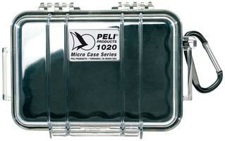 Best Price Square Micro CASE 1020 Clear/Black Liner 1020 Clear/Black by PELI Black Micro Case