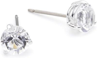 Swarovski 1800046 - Pendientes de de acero inoxidable con circonitas