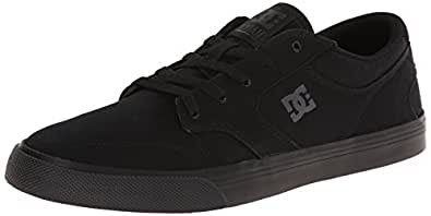 DC Men's Nyjah Vulc Tx Black Canvas Sneakers - 6.5 UK/India (40 EU)(7.5 US)