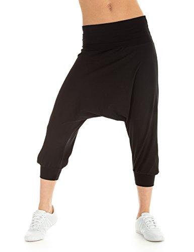 Winshape pantaloni sportivi da donna pantaloni danza Fitness Sport e tempo libero, Donna, Trainingshose Dance Fitness Freizeit Sport Haremshose, nero, M