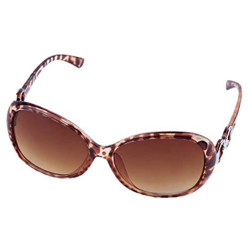 LouiseEvel215 Resina (Lente) + Plástico (Marco) Lente UV400 Ligero Lentes de Moda de las Mujeres de Moda de Gran tamaño Vintage Gafas de sol Gafas al aire Libre