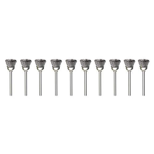 Lot de 10 brosses métalliques en acier inoxydable 2,35 mm...