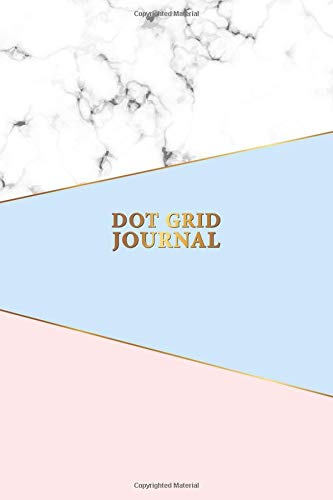 Dot Grid Journal: Nifty Marble Blue & Pink Notebook with Dotted Pages for Journaling and Calligraphy. Pretty Bullet Planner and Notebook to Organize ... and Plan Your Day. (Gridded Journals) por Vanguard Notebooks