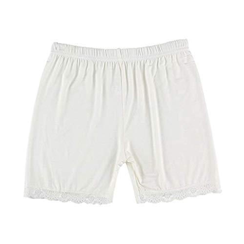 KPPONG Kurze Leggings Hose Damem Hipsters Spitze Miederhose Slip Shorts Atmungsaktive Boyshorts Legging Shorts