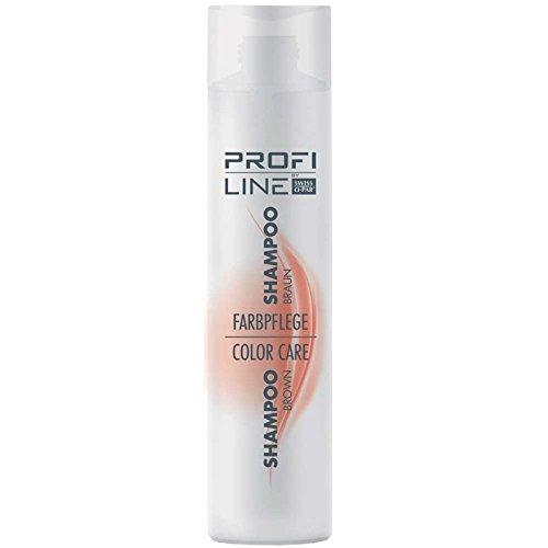 Profiline Couleur Shampoing Soin Marron 300 ml pour hellbraunes jusqu'à cheveux marron foncé