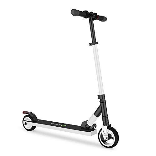 Mtricscoto adolescent scooter elèctric, Ajustable l'Altura, 5000 mAh, 23km / h. (blanc)