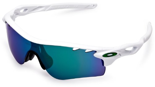 Oakley Men's Radarlock Path (a) Non-Polarized Iridium Wrap Sunglasses, Polished White, 38.02 mm