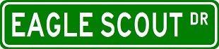 Eagle Scout Street Schild ~ Custom Aluminium Street Signs by The lizton Schild Shop -