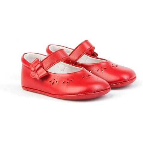 Patucos Merceditas para Bebé Todo Piel, mod.242. Calzado infantil Made in Spain, Garantia de calidad. Novedad en Amazon