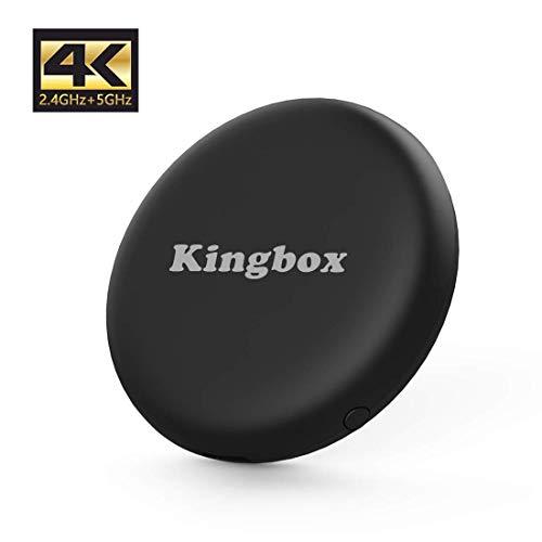 Kingbox WiFi Display Dongle Mini Display Adapter mit 4K/BT 4.2/H.265/5G 2.4G WiFi Unterstützung Chromecast Miracast DLNA Airplay für iOS, Android, Tablet, Mac,iPhone
