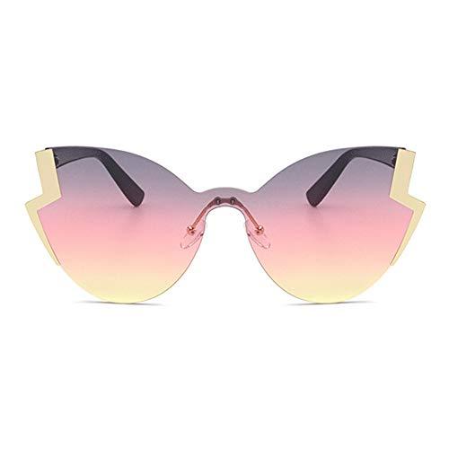 New Metall Persönlichkeit Sonnenbrille Damen Retro Cat Eye Brille Europa Und Die Vereinigten Staaten Trend Mode Gold Rahmen Farbe Objektiv Brille