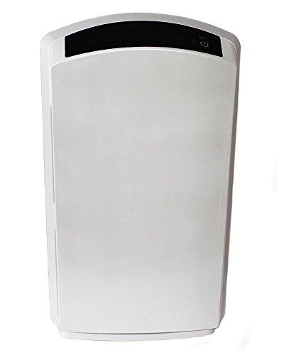 Baren B-H03 Luftreiniger, perlweiß, sehr leise mit HEPA-Filter, PM2.5 Feinstaubsensor, Ionisator, Aktivkohle, Fotokatalyse, UV-Licht, Ozonreinigung und Nacht-Funktion, ideal für Allergiker - 3
