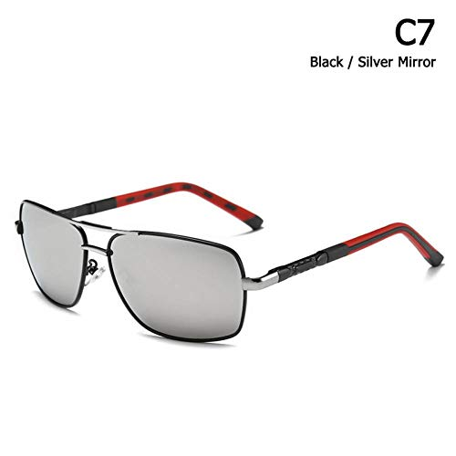 TIANKON Fashion Men Square Aviation Style Sonnenbrille Fahren im Freien Uv400 Sonnenbrille Eyewear,C7