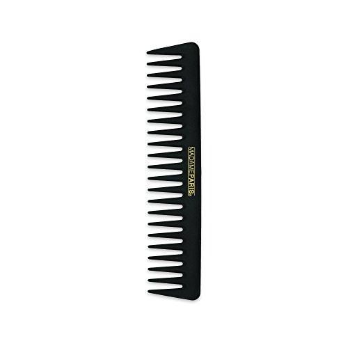 MadameParis - Professioneller Haarkamm - Kohlenstoff Haarkamm - Hitzebeständig - leichte Entwirrung - breite Zähne - Für Männer und Frauen - Antistatischer Haarkamm (Griff Pony-haar-spitze Und)