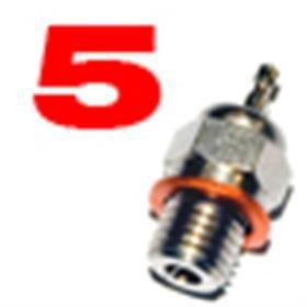Jets Candela n.5 per Motori a Scoppio Glow Plug 1 pz