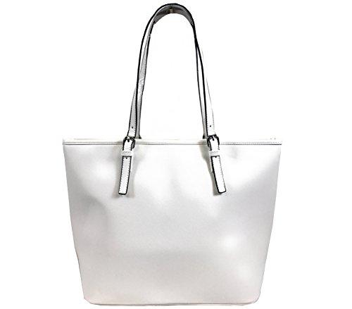 CAPRIUM Handtasche Shopper Tasche Schultertasche modern, Damen 000A2147 Weiß