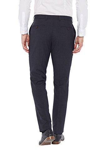 next Homme Coupe Slim Pantalon Texturé Gris Clair