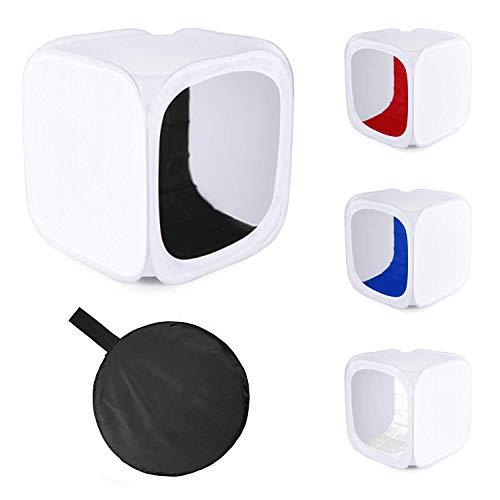 Fotografie Studio Pop-Up-Lichtzelt mit 4Hintergründe | PhotoGeeks Shooting Box Cube Diffusor | Produktfotografie | erhältlich in Größen 40cm, 60cm, 90cm, 100cm, 120cm und 150cm Portable Photo Studio Cube