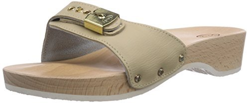 Scholl PESCURA Wedge Sand - Zuecos Mujer