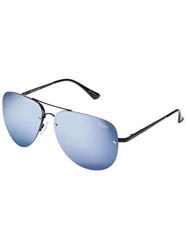 Quay Eyewear Unisex Sonnenbrille Muse, Schwarz (Blk/Purp Mirror), One size (Herstellergröße: Einheitsgröße)