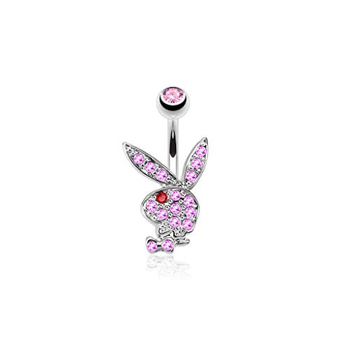 Bauchnabelpiercing Playboy Bunny Kristall Gery Rosa Corp Bunny