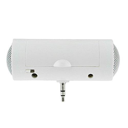 Tefamore Altavoz Estéreo Para Reproductor De Música De 3,5 mm Para Teléfonos Móviles y Computadoras (blanco)