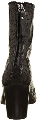 Ecco Shape 55, Bottes Femme Noir (Black-buffed Silver)