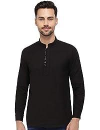 5b7cfc9a050be Amazon.es  Camisa negra - Cuello mao   Camisas   Camisetas