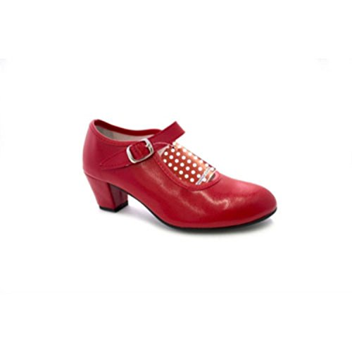 Siviglia ragazza scarpe da ballo flamenco o una donna Danka rosso taille 34