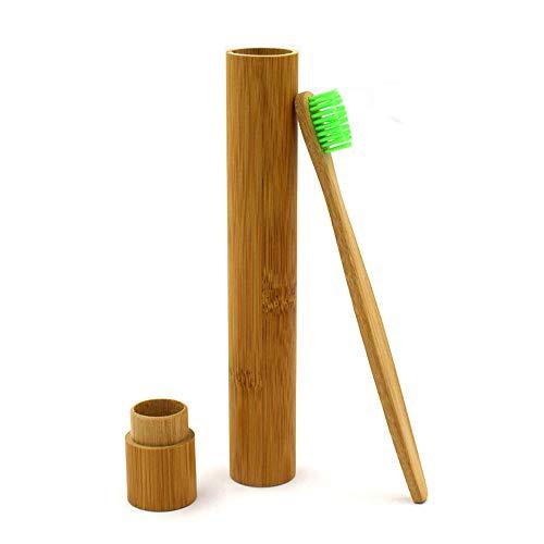 YCANK Bambus-Etui, umweltfreundlich, tragbar, natürliche Zahnbürste, Reisefreundlich, Tube für die Hand -