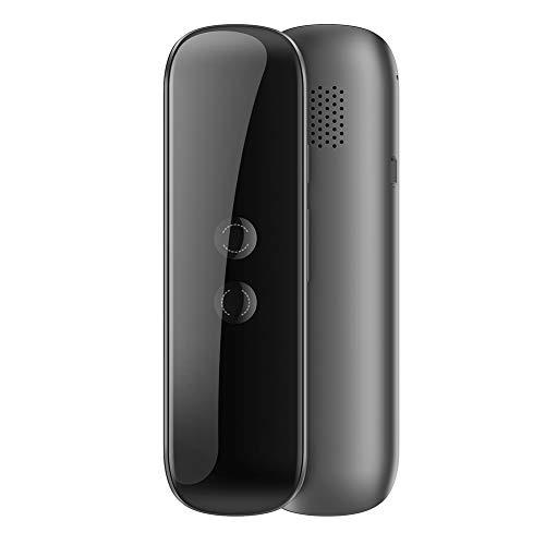 ECOSWAY, traduttore istantaneo Intelligente, Dispositivo di traduzione vocale Wireless Bluetooth Portatile, 40 Lingue, traduttore simultaneo Intelligente bidirezionale Nero