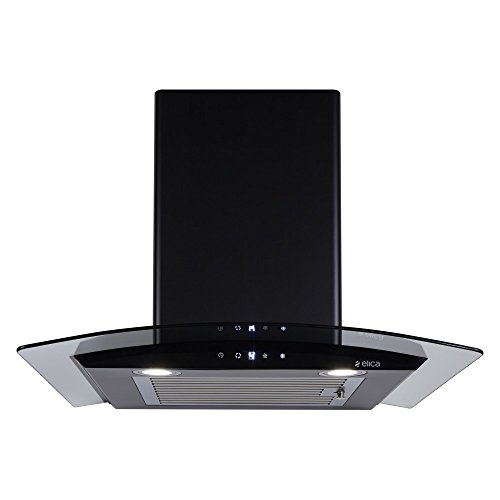 Elica 60 cm 1100 m3/hr Auto Clean Chimney (ESCG HAC 60 NERO, 1 Baffle Filter, Touch Control, Black)