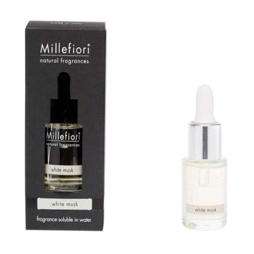 Fragranza idrosolubile Millefiori collezione Natural White Musk 15ml  da utilizzare con diffusore di fragranza per ambiente ad ultrasuoni Millefiori Hydro