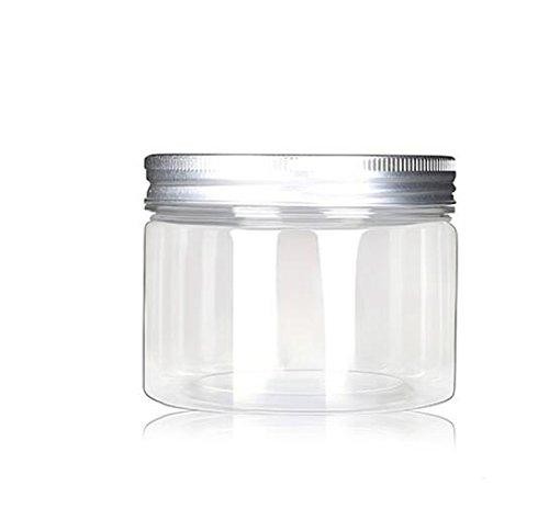 120ml / 4 Unzen Gläser PET Kunststoff Leere Kosmetikbehälter Fälle mit Silber Aluminium Caps Creme Lotion Box Salben Flasche Lebensmittel Flasche Make-up Topf Jar Pack von 6