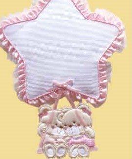 Coccarda nascita gemelli (rosa)