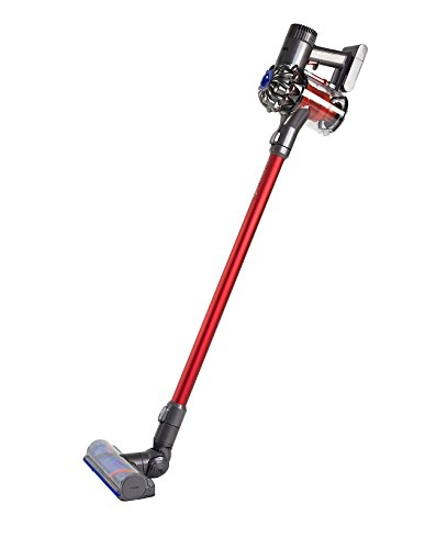 Dyson V6 Total Clean - Aspiradora (sin cable, 350 W, 28/100 W succión, 0.4 L), color rojo