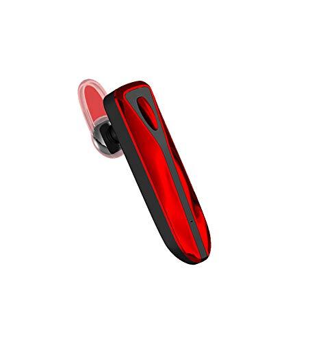 Bluetooth Headset ,Handy Bloothooth Kopfhörer In-Ear Ohrhörer Funk ,mit Mikrofon Rauschunterdrückung Funk Bluetooth Kopfhörer Headsets ,für iPhone Telefon Drahtlose Hands-Free Headset,Red - Red Hands Free-headset