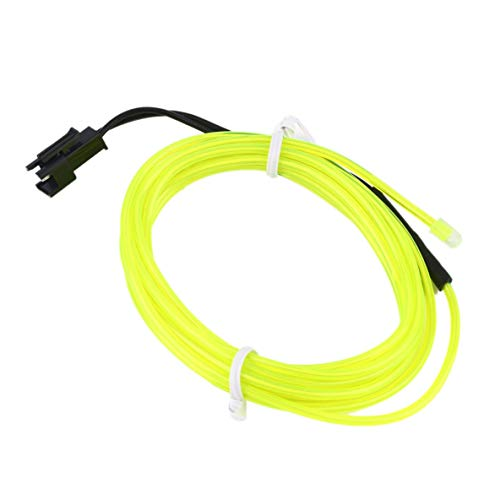 Moliies Mini Colorful 2m Flexible EL Wire Tube Rope Neon Light DC 12V Car Party Bar Decor