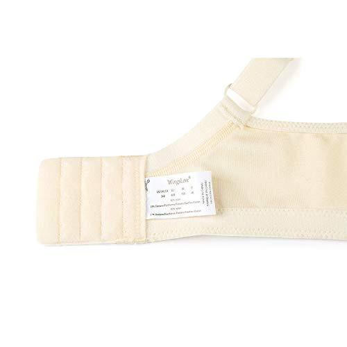 Wingslove Damen Vollschalen BH Ungepolstert Komfort Minimizer BH Bügellos BH Große Größe(Nackt 40B) - 6