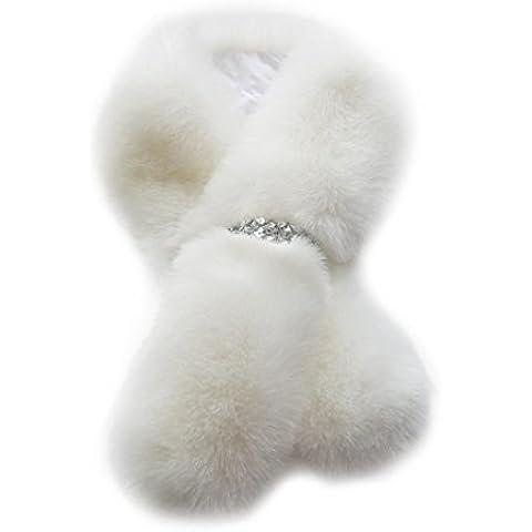 Sciarpa Donna , Fulltime involucro collare inverno donna sciarpa di pelliccia finta elegante scialle Shrug (Scialle Pattern Maglia)