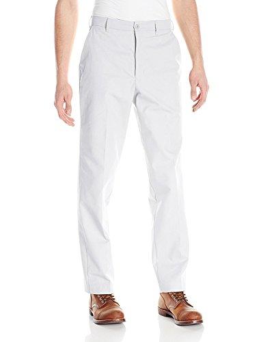 37U / 33 , White : Red Kap Men's Wrinkle-Free Regular Fit Twill Blend Work Pants