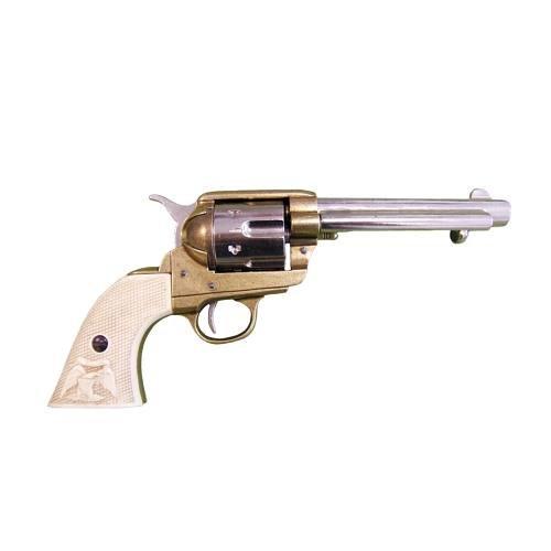 Deko 45er Colt mit weißer Griffschale und US-Adler USA 1873 -