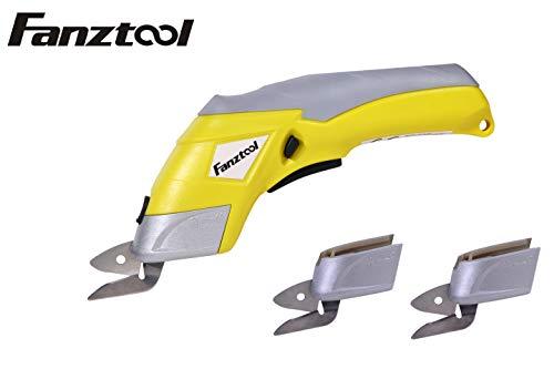 FANZTOOL Akku-Universalschneider Akkuschere Lederschneider Teppichschere Kartonschneider (Schere Set) -