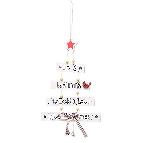 MAYOGO Creative Weihnachten Wooden Hängende Verzierung mit Englisches Alphabet-It's Beginning to Look a Lot Like Christmas! EIN Anhänger, der die Festliche Atmosphäre ()