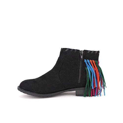 Cendriyon Bottine Daim Noir Azalee Mode Chaussures Femme Noir